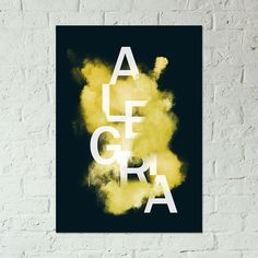 coloque alegria na sua casa! #decoração #poster #quadro #amarelo
