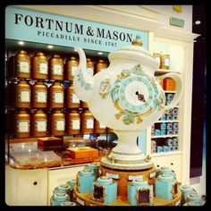 Fortnum and Mason is my favorite spot to visit in London... such pretty things! I want it all...