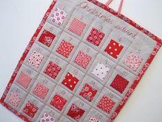 Fabric pocket advent calendar