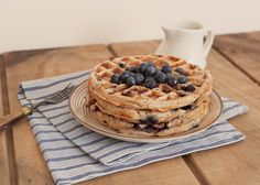 Blueberry Yogurt Waffles, Wholeliving.com