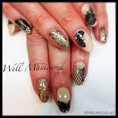 #wellmanicured #nails #nailart Super sexy lace look with nail adhesives by @Pamela Sherrill. Color: #NeedaTan
