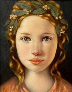 Painting of a girl by Ken Hamilton Irish Painters, Portrait Art, Portrait Paintings, Art Paintings, Face Art, Beautiful Artwork, Painting & Drawing, Painting Abstract, Acrylic Paintings