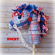 Hobby Horse Toy horse Stick horse by MySouthernChic on Etsy Cowboy Birthday, Cowboy Party, Craft Stick Crafts, Crafts For Kids, Nail Salon And Spa, Sewing Crafts, Sewing Projects, Horse Fabric, Stick Horses