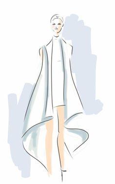 Sid Neigum by Lisa Nishimura Curated.Works: World MasterCard Fashion Week F/W 2014 LIVE Runway Sketches (Day 1)
