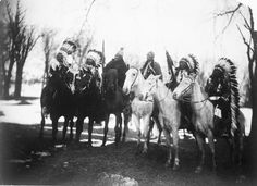 Washington, DC, March 4, 1905  Six tribal leaders in ceremonial attire attend Teddy Roosevelt's inaugural parade. From L to R Little Plume (Piegan), Buckskin Charley (Southern Ute), Geronimo (Chiricahua Apache), Quanah Parker (Comanche), Hollow Horn Bear (Brulé Sioux), and American Horse (Oglala Sioux).   Curtis, Edward S., 1868-1952, photographer