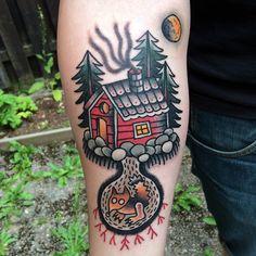 By Emil Särelind @ Deepwood tattoo, Stockholm Sweden http://www.deepwoodtattoo.com/