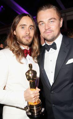 Jared Leto & Leonardo DiCaprio from 2014 Oscars: Party Pics | E! Online