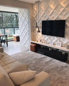 Home Room Design, Living Room Theaters, Living Room Decor Apartment, House Rooms, Home Decor, House Interior, Apartment Decor, Home Deco, Living Room Tv Unit Designs