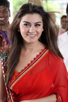 Actress Hansika Motwani Latest Hot Red Saree Photos - Tollywood Stars