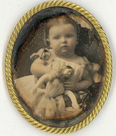 1/9th Plate daguerreotype of a precious little girl and her doll