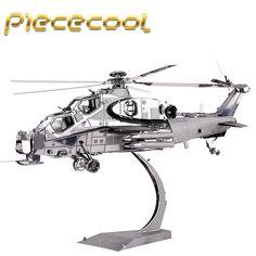 Piececool+3D+Metal+Puzzle+Wuzhi-10+Helicopter+Building+Kits+P048S+DIY+3D+Laser+Cut+Models+Toys