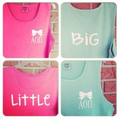 Comfort Colors Big/Little Bow Tanks by CampusGreekTally on Etsy