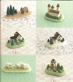Wool felt houses and sheep.