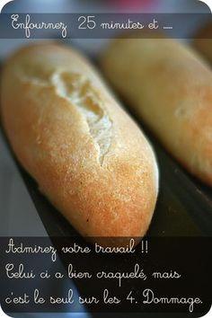 Petites baguettes sans gluten