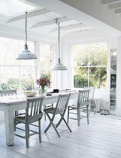 white cottage Love the light
