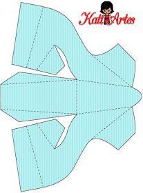 Stripes: Free Printable Paper Shoes.