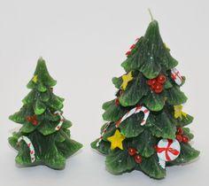 Weihnachtskerze Kerze in Form eines Weihnachtsbaums in zwei verschiedenen Größen    eBay