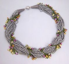 Fresh Water Pearl Vine Necklace by CMTbeadwork on Etsy