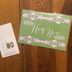 Hey You  Boho Greeting Card by LoboDesign on Etsy, $3.00