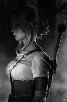 The Witcher: Ciri Portrait - Created by Dave Keenan