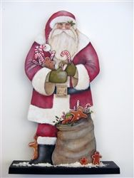 Lynne Andrews Sugar and Spice Father Christmas Pattern Packet Christmas Yard Art, Father Christmas, Retro Christmas, Christmas Signs, Christmas Tree Decorations, Christmas Crafts, Christmas Ornaments, Christmas Christmas, Xmas