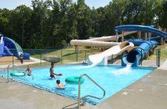 Santa's Splash Down WaterPark at Lake Rudolph Campground & RV Resort.