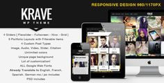 Clean, fresh, responsive and easy to customize, unique multipurpose Premium WordPress theme. Krave is a unique, fully responsive, fresh, html5, css3 WordPress theme with unlimited color variations with one click settings loaded. This theme will display your photos with a great look!