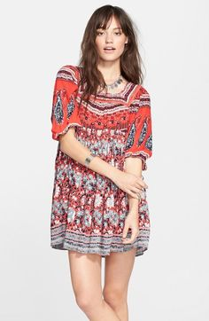 Free+People+'Snap+Out+of+It'+Print+Dress+available+at+#Nordstrom