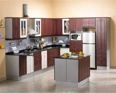 Contemporary #Kitchens for a stylish #home  Call us: +91 984 502 8773 http://modular-kitchens.com/kitchen.html