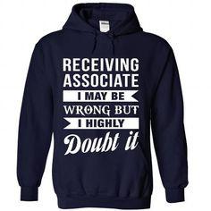 RECEIVING-ASSOCIATE - Doubt it - #green shirt #sweater vest. WANT IT => https://www.sunfrog.com/No-Category/RECEIVING-ASSOCIATE--Doubt-it-7125-NavyBlue-Hoodie.html?68278