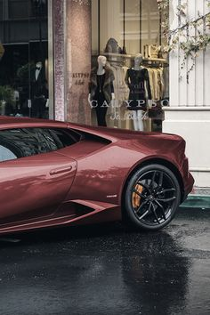 burgundy luxe car