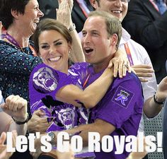 """""""The Royals on the Royals"""" - Our darling royal duo are ready to cheer on the Purple and Black!"""