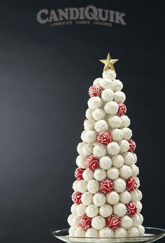 A Christmas Tree made completely of Cake Truffles