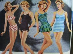 1960 Mademoiselle magazines with lots of fun photos and illustrations of fashion, beauty, hair and make up, lingerie, dresses, swimwear, shoes and more! #madmen $55