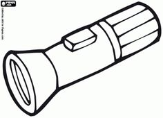 Flashlight pattern. Use the printable outline for crafts