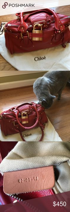 Chloe Paddington Authentic 🎈🎈 Clean inside dust bag included slight wear  on piping no Tears or scratches still great shape no trades will take additional photos if requested Chloe Bags Satchels