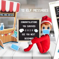 Elf Christmas Decorations, Christmas Elf, Christmas Presents, Awesome Elf On The Shelf Ideas, Elf Is Back Ideas, Elf Ideas Easy, Elf On Shelf Funny, Elf Games, Bad Elf