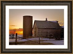 Sunrise On Birch Avenue Framed Print By Bonfire #Photography