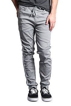 25ceae51a16 Victorious Men s Side Striped Band Joggers - JG3005 - Dar... https