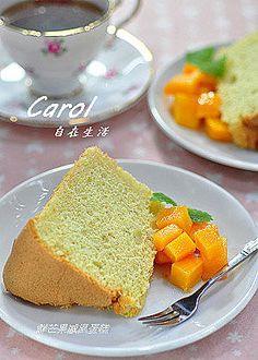 Carol 自在生活 : 鮮芒戚風蛋糕