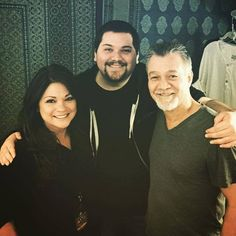 Valerie Bertinelli, Wolfgang Van Halen, Edward Van Halen, tonight at The Hollywood Bowl