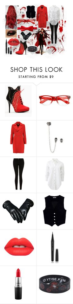 """Red Greaper"" by stormtrooper2003 ❤ liked on Polyvore featuring Diane Von Furstenberg, Current/Elliott, rag & bone, AG Adriano Goldschmied, Lime Crime, Marc Jacobs, MAC Cosmetics, Morgan, women's clothing and women"