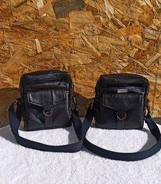 Duo de pochettes Jive en simili noir cousues par L'atelier créatif de Marina - Patron Sacôtin