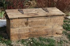 Something to keep bags in during the show    YOUR Customized Reclaimed Rustic Barn Wood Storage Chest, Coffee Table or Bench. $275.00, via Etsy.