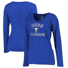 Texas Legends Fanatics Branded Women's Overtime Plus-Size Long Sleeve T-Shirt - Royal