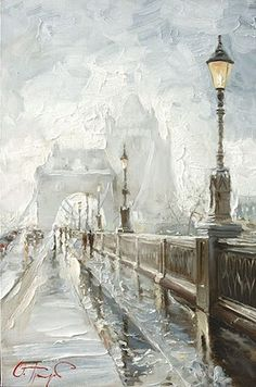 London Mist by Russian Artist Oleg Trofimov, Tower Bridge