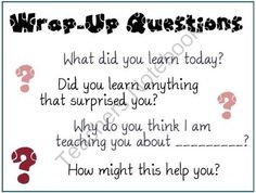 Wrap-Up Questions Poster from MsJordanReads on TeachersNotebook.com (1 page)