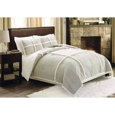 Have to have it. Seasons Microsuede Sherpa Comforter with Two Shams - $109.99 @hayneedle