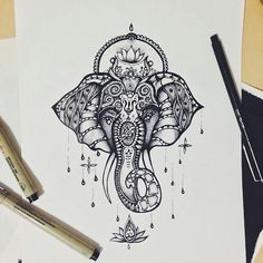 Aztec Elephant  on We Heart It