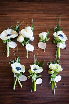 Gästeanstecker Hochzeitsanstecker Boutonniere Anstecker für Braut Bräutigam